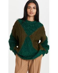 Toga Low Gauge Knit Pullover - Green