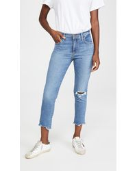 Levi's 724 High Rise Straight Crop Jeans - Blue