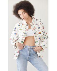 Mira Mikati Short Trench Jacket - White