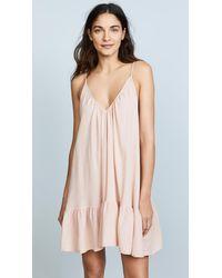 9seed St Tropez Ruffle Mini Dress - Pink