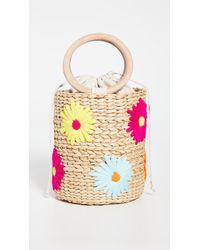 Poolside Embroidered Bucket Bag - Multicolour