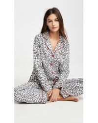 Pj Salvage Fit Flannel Pj Set - Gray