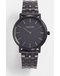 Nixon - Porter Gunmetal Watch, 35mm - Lyst