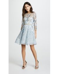 Notte by Marchesa | Cocktail Dress With Metallic Lace Trim | Lyst