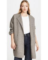 Madewell Ivy Long Sweater Coat - Gray