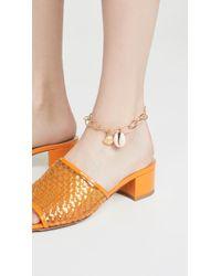 Aurelie Bidermann Panama Shell Anklet - Metallic