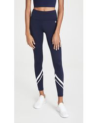 Tory Sport High-rise Weightless Chevron Leggings - Blue