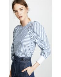 Sea Riviera Corded Peasant Top - Blue