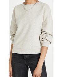 Agolde Nolan Drop Shoulder Sweatshirt - Grey