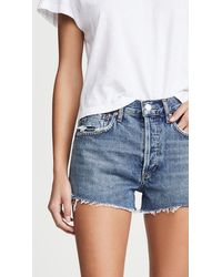Agolde Parker Vintage Cutoff Shorts - Blue