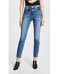 PAIGE High Rise Sarah Slim Jeans - Blue