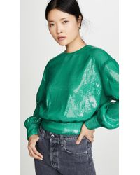 MSGM Sequin Blouse - Green