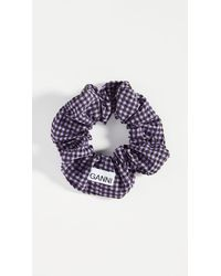 Ganni Seersucker Check Scrunchie - Multicolour