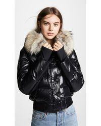 Sam. Skyler Short Down Jacket With Fur - Multicolour