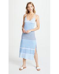 Sundry - Stripes Spaghetti Strap Maxi Dress - Lyst