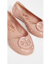 Tory Burch Minnie Travel Ballet Flats - Pink