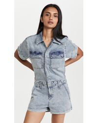 Joe's Jeans The French Terry Shortall Romper - Blue