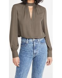 Theory Neck Band Blouse - Multicolor
