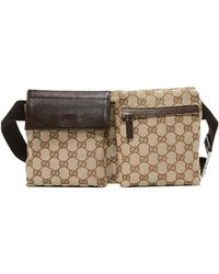 What Goes Around Comes Around Gucci Waist Pouch (previously Owned) - Brown