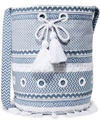 Dodo Bar Or Woven 'kashi' Bag - Blue