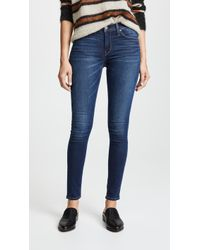 Hudson Jeans - Nico Mid Rise Super Skinny Jeans - Lyst