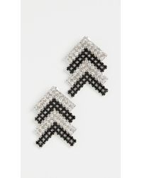 Area Crystal Arrow Earrings - Metallic