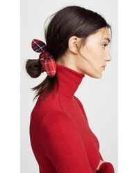NAMJOSH Red Plaid Scrunchie