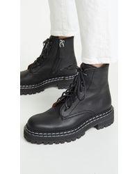Proenza Schouler Stitch Lace Up Boots - Black