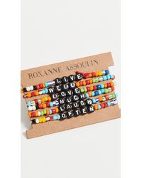 Roxanne Assoulin Live Well Love Much Laugh Often Camp Bracelets - Multicolour