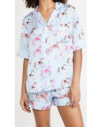 Karen Mabon Carousel Blue Shorts Pyjama Set