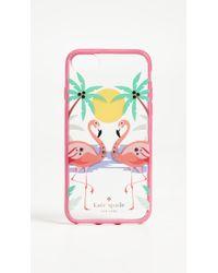 Kate Spade - Jeweled Flamingos Iphone 7 Plus / 8 Plus Case - Lyst