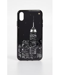 Kate Spade Glow In The Dark Skyline Iphone Xs Max Case - Black