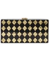 MILLY - Diamond Box Clutch - Lyst