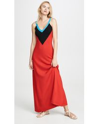 Victor Glemaud Deep V Neck Gown - Red