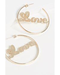 Jennifer Zeuner Blair Hoop Earrings - Metallic