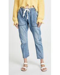 One Teaspoon Shabbies Drawstring Boyfriend Jeans - Blue