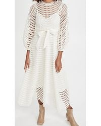 Zimmermann - Poppy Eyelet Midi Dress - Lyst