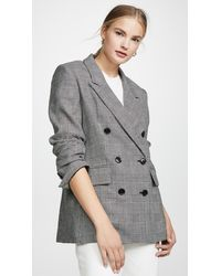 FRAME Double Breasted Blazer - Gray