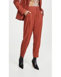Anine Bing Becky Pants - Red