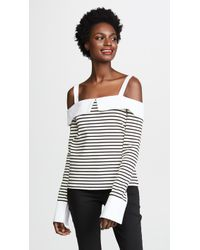 English Factory - Long Sleeve Off Shoulder Top - Lyst