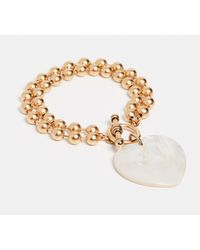 Brinker & Eliza Heart On Your Sleeve Bracelet - Metallic