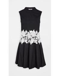 10 Crosby Derek Lam Lea Sleeveless 2-in-1 Dress - Black