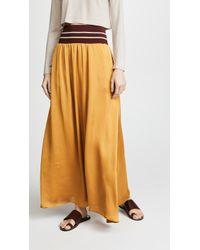 Scotch & Soda Maxi Skirt With Elastic Waist - Multicolour