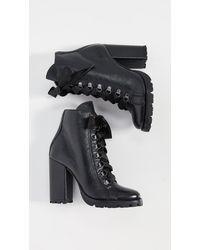 Schutz Zara Lug Sole Boots - Black