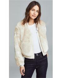 J Brand - Ashbey Faux Fur Jacket - Lyst