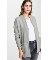 White + Warren Luxe Pocket Cashmere Cardigan - Gray