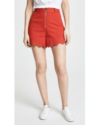 10 Crosby Derek Lam - High Waisted Embroidery Shorts - Lyst