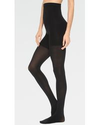 Spanx High - Waisted Luxe Leg Tights - Black