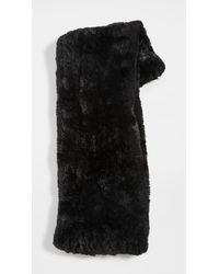 Jocelyn Knitted Faux Fur Infinity Scarf - Black