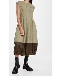 Lee Mathews Birder Spliced Parachute Dress - Green